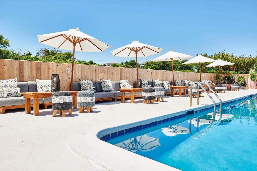 Can't make it to the beach? Spend the day at our poolside oasis.